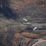 Crash site photo taken from CAP aircraft at 1000 AGL